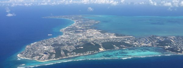 Aerial view of Grand Cayman in the Cayman Islands