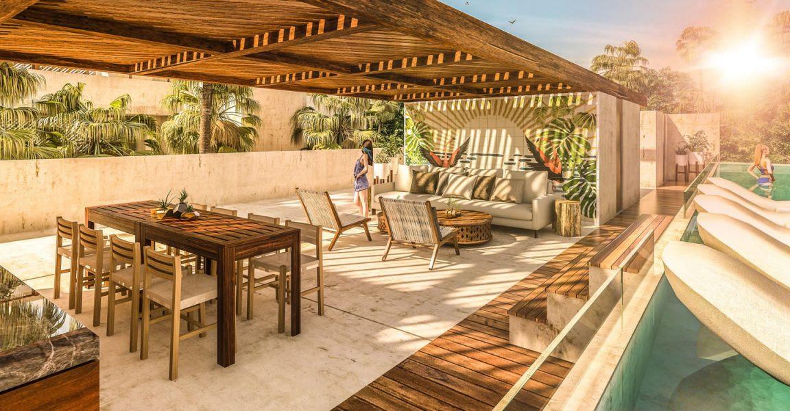 Admirable 2 Bedroom Townhouse Apartments For Sale Aldea Zama Tulum Interior Design Ideas Gentotthenellocom
