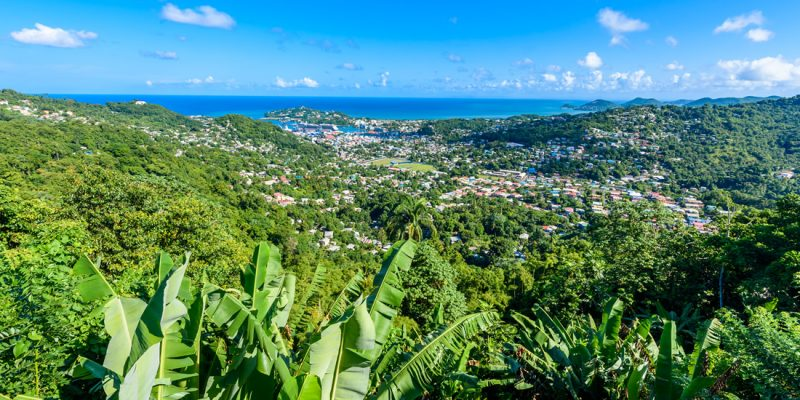 Casties and the coast of St Lucia