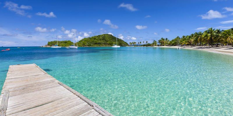Salt Whistle Bay on the island of Mayreau in the Grenadines