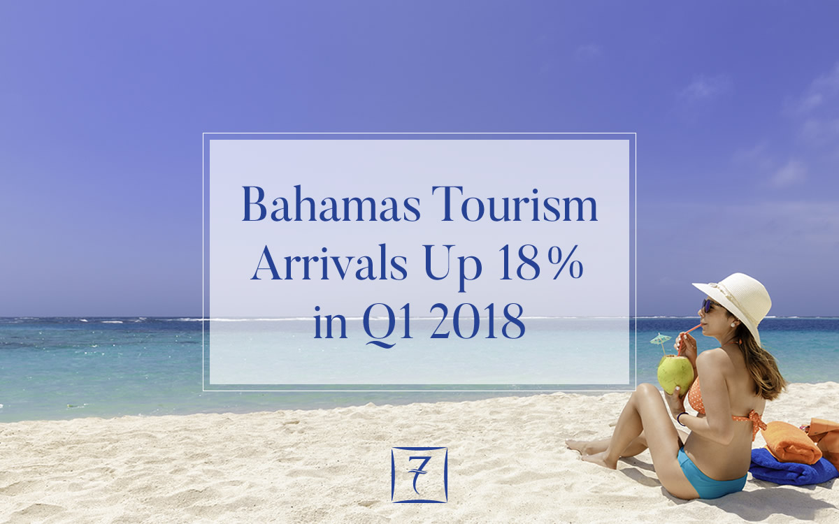 Bahamas tourism arrivals up 18% in Q1 2018