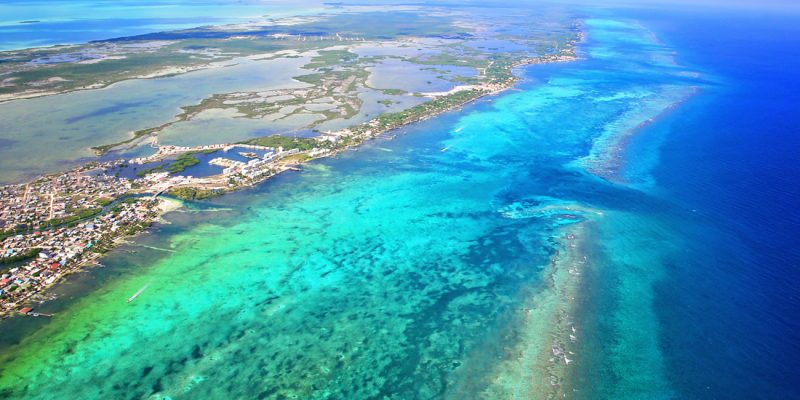 Ambergris Caye and the Belize Barrier Reef