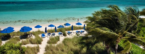 Grace Bay Beach, Providenciales, Turks & Caicos - Aerial view