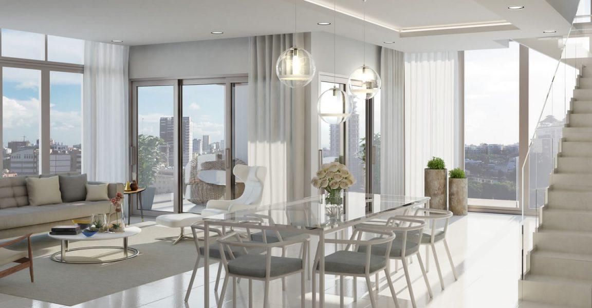 3 Bedroom Duplex Apartments For Bella Vista Santo Domingo Dominican Republic