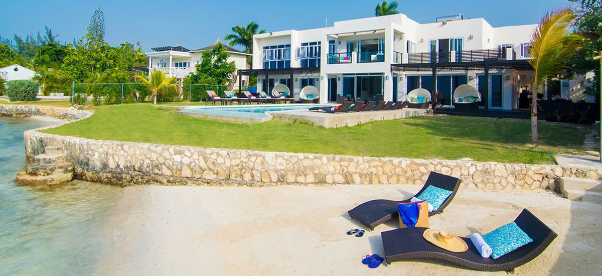 Beachfront home for sale in Montego Bay, Jamaica