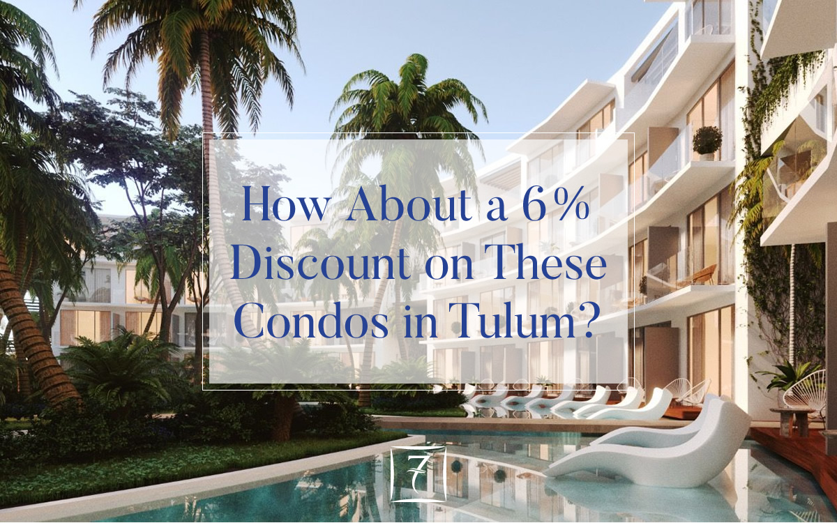 Reserve by 31st October 2018 for a 6% discount on these condos for sale in Tulum