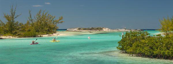 Kayaking in Cat Island, Bahamas