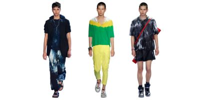 Fashion trend for men, Summer 2019: Tie-dye (Cerrutti 1881, Prabal Gurung, Louis Vuitton)