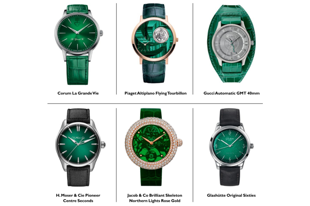 The finest green luxury watches