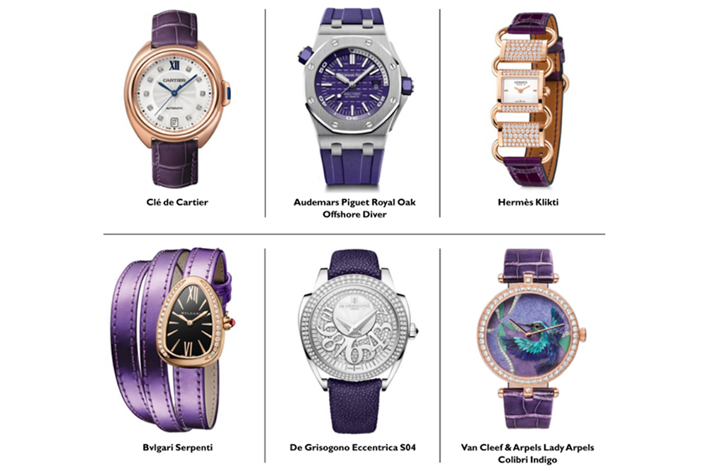 The finest purple luxury watches