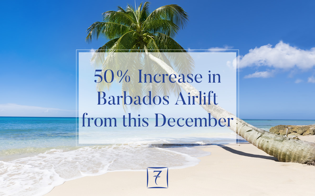 New flight to Barbados to deliver 50% increase in airlift from this December