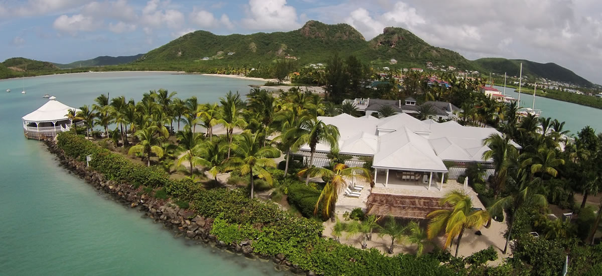 Luxury waterfront villa for sale in Antigua