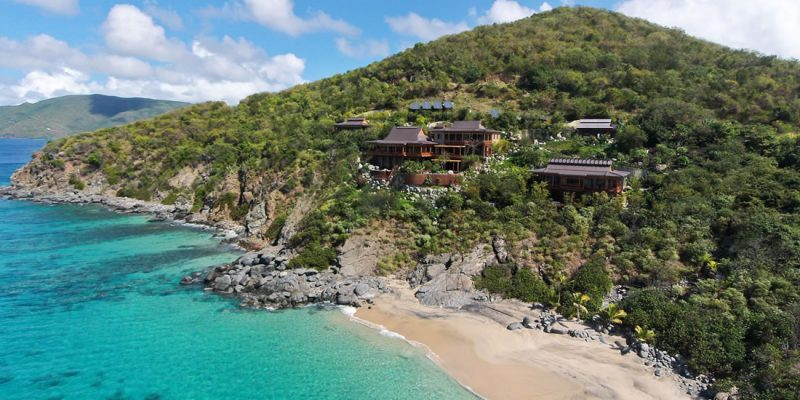 Luxury beachfront home for sale in the BVI