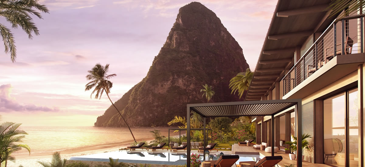 Luxury beachfront residence for sale in St Lucia