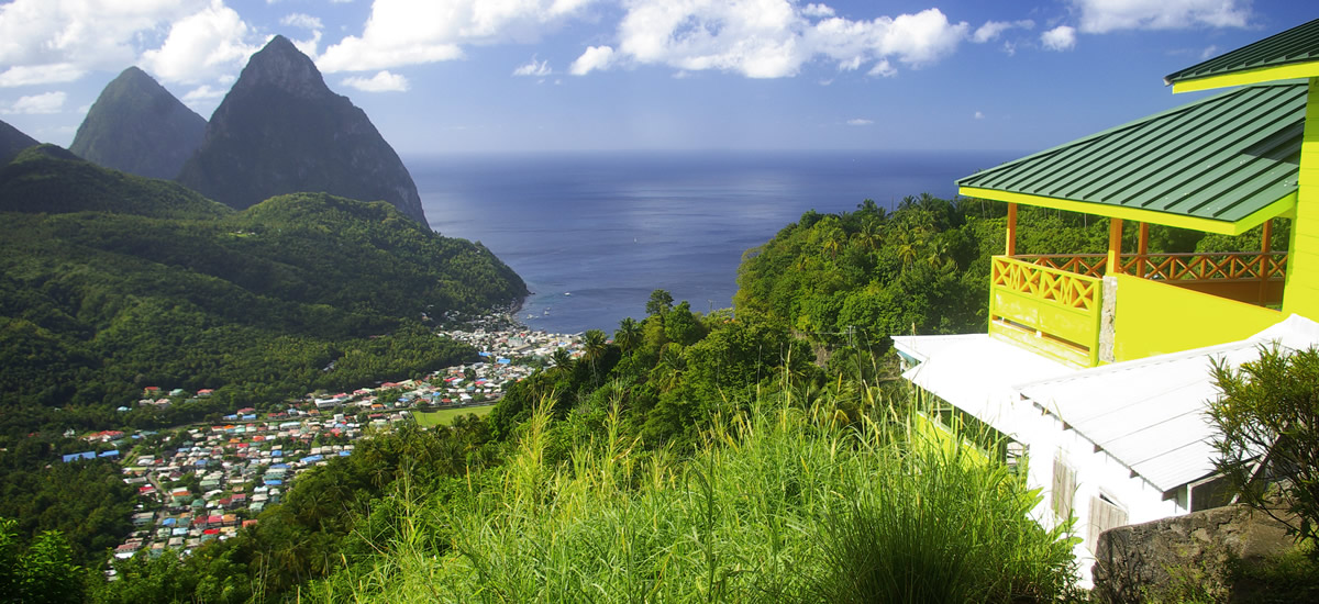 House overlooking the Pitons in St Lucia