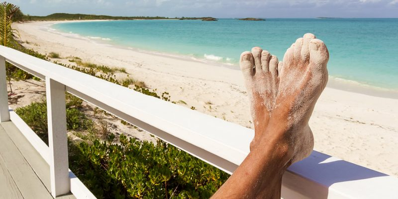 Relaxing by the beach in The Bahamas