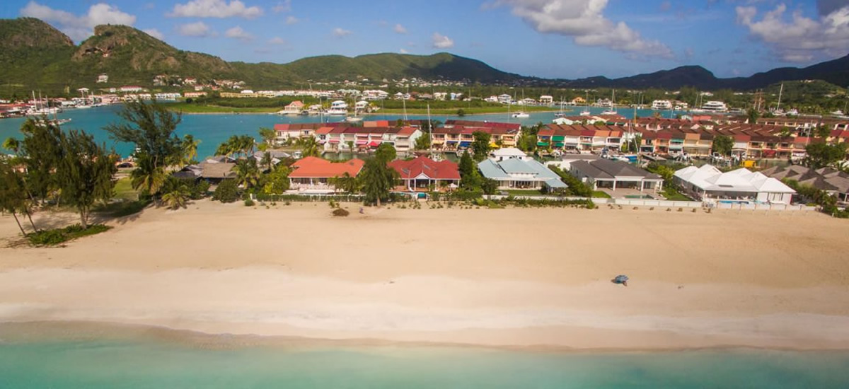 Beachfront villa for sale in Jolly Harbour, Antigua