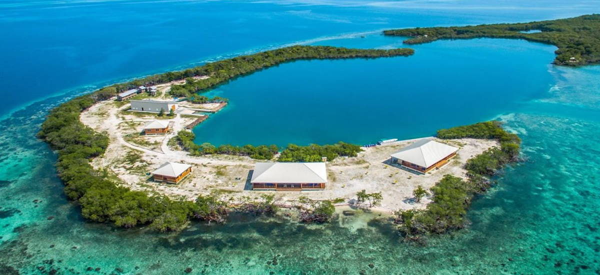 Island for sale with 4 homes in southern Belize