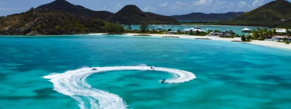 Jet skiing at Jolly Harbour, Antigua