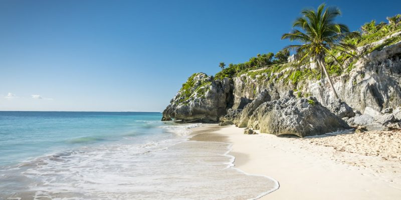 A beautiful beach in Tulum, Mexico