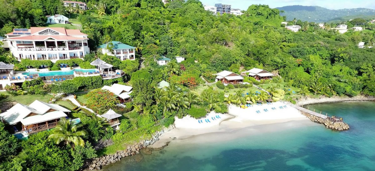 Beachfront hotel for sale in Rodney Bay, St Lucia