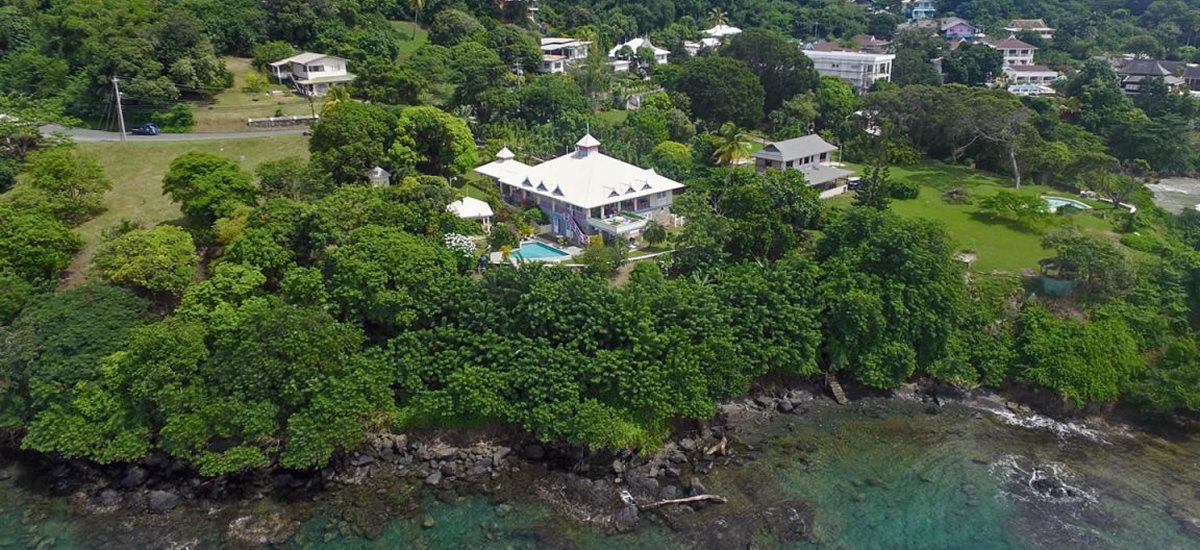 Seafront home for sale in Tobago