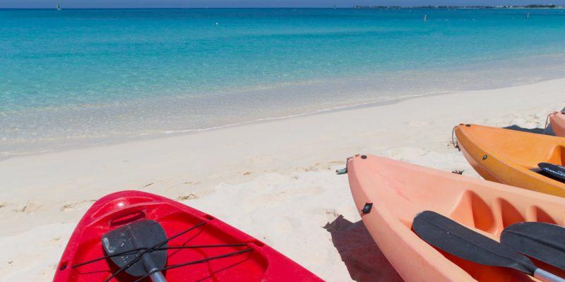 Kayaks on Seven Mile Beach, Grand Cayman