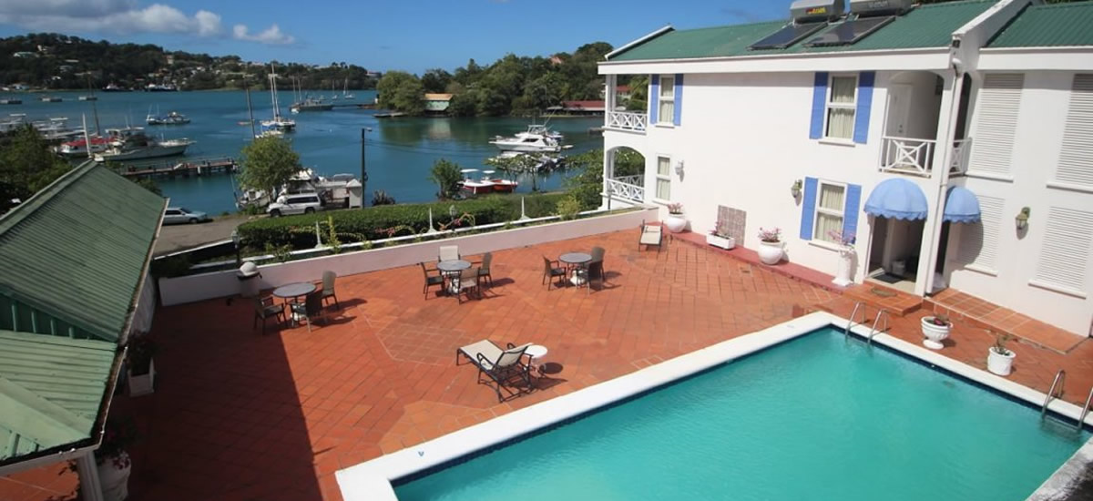 Waterfront hotel for sale in Pointe Seraphine, St Lucia