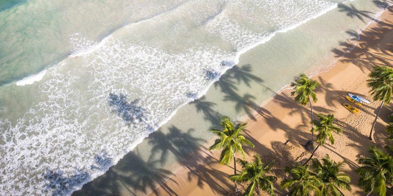 A beautiful beach in Samana in the Dominican Republic
