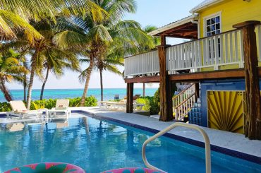 Beachfront real estate in Ambergris Caye, Belize