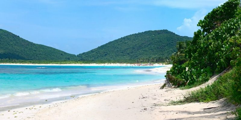 Beautiful beach in Culebra, Puerto Rico