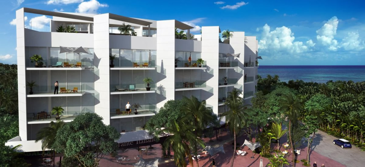Apartments for sale in Playa del Carmen by the beach