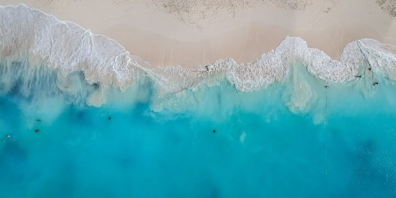 Grace Bay Beach in Providenciales, Turks & Caicos - aerial view