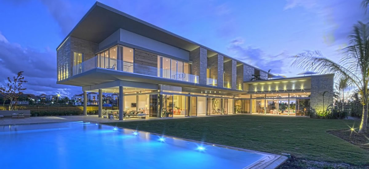 Home for sale overlooking the marina in Cap Cana
