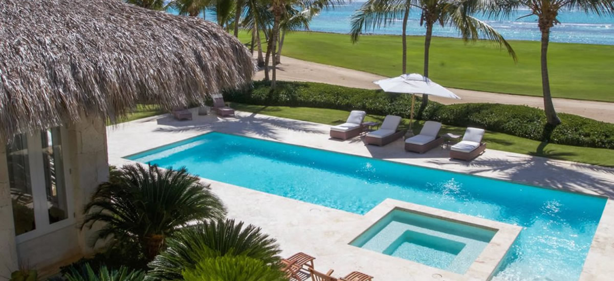 Oceanfront home for sale in Punta Cana