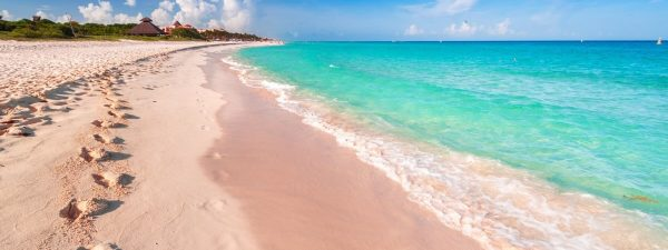 Beautiful beach in Playa del Carmen, Mexico