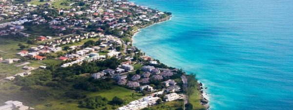 The coast of Barbados - aerial view