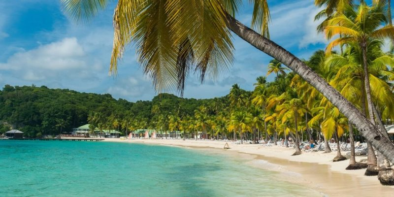 Beautiful beach in Guadeloupe