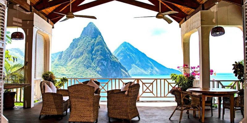 Luxury Caribbean villa for sale in St Lucia with views of the Pitons