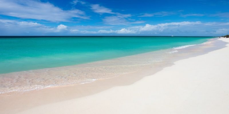 Beautiful beach in Barbuda