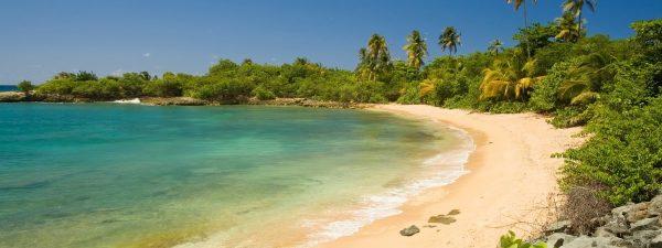 Beautiful beach near San Juan, Puerto Rico