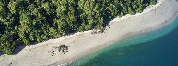 Beautiful beach in Panama - aerial view