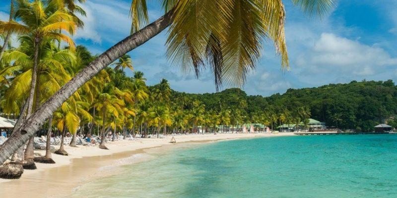 Beautiful beach in the Caribbean