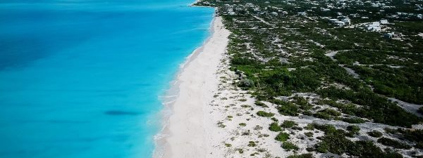 Beautiful Grace Bay Beach on Providenciales in the Turks & Caicos Islands