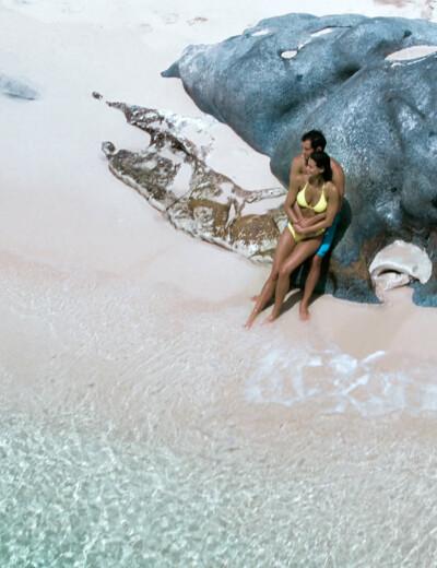 Couple on the beach in Virgin Gorda, BVI