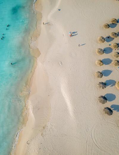 Aerial view of Eagle Beach, Aruba