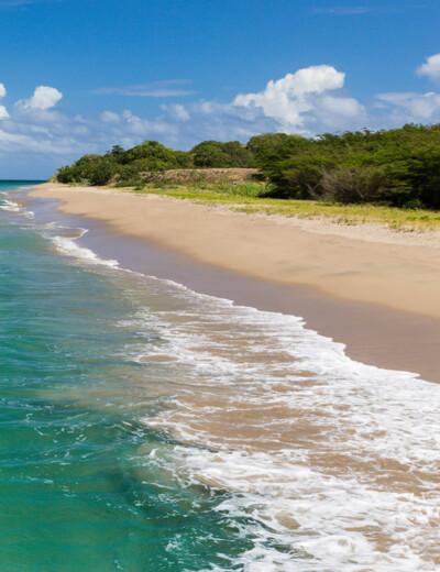 Beautiful beach on Nevis
