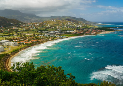 Aerial view of St Kitts